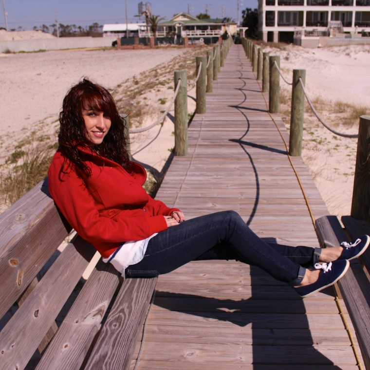 Me, Sitting on the Romar Boardwalk